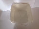 Kunststoffdose Braplast Dose 3 l flach weiß